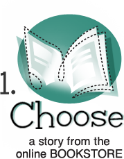 Choose a story from the online bookstore